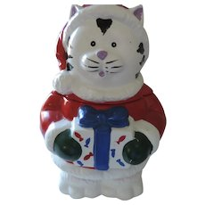 "Santa Claws Cookie Jar, 11"" Tall, 7 1/2"" Wide, Taiwan"
