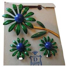 Dubarry Enamel Pin and Earrings on Original Card