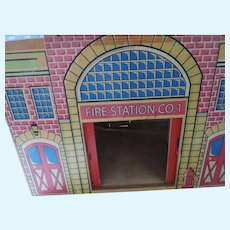 "Wooden Fire Station Co 1, Dollhouse, 16"" X 11"" X 18"""