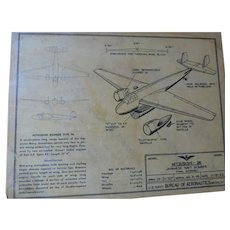WWII US NavyBureau of Aeronautics Aircraft Model Plans