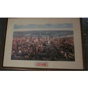 1952 Budweiser  Custer's Last Fight Framed Lithograph