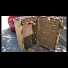 Wheary Wardrola 1930's Wardrobe Trunk