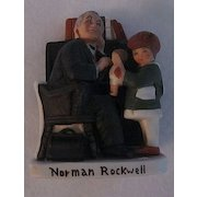 Norman Rockwell Figurine, Doctor and Doll