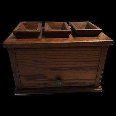 American Civil War Era Foot Warmer Oak Box
