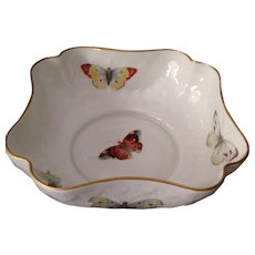 Beautiful B&C Limoges Butterfly Bowl With 14K Gold Trim - Red Tag Sale Item