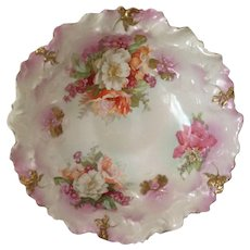 Amazing MZ Austria Hand Highlighted Floral & Gold Master Bowl. C-1900