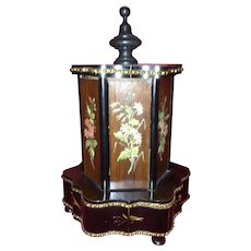 Rare and Unique Victorian Musical Cigar Caddy Carousel. C-1880