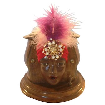 Best of the Best Kindel & Graham Fatima Gypsy Head Cigarette Dispenser C-1929