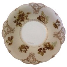 RS Prussia Related, Old Ivory Ohme Silesia, Large Serving Bowl. C-1905