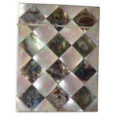 Outstanding Mother of Pearl & Abalone 19th Century Calling Card Case