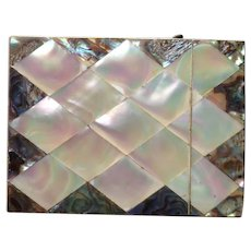 Top of the Line Mother of Pearl and Abalone Calling Card Case C-1880