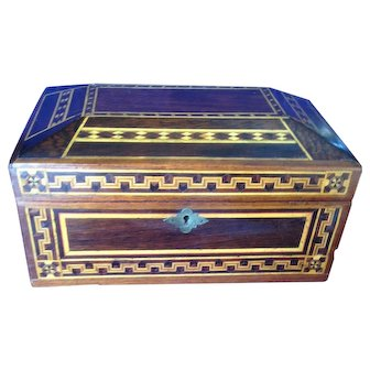 Excellent 19th Century Inlaid (Marquetry) Wooden Jewelry Box