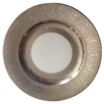 12 Rare and Amazing Thomas Bavaria Platinum Decorated Dinner Plates C-1925