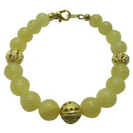 Petty Yellow Calcite Single Strand Bracelet