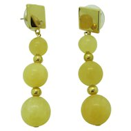Pretty Yellow Calcite Dangle Earrings