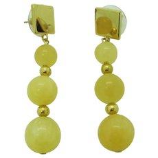 Pretty Yellow Calcite Dangle Earrings