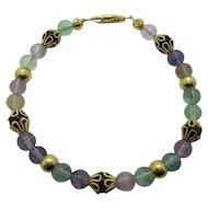 Beautiful Multi Colored Rainbow Flourite Bracelet