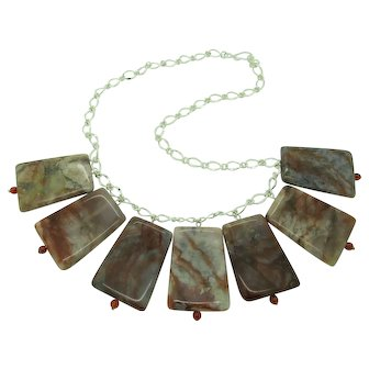Unique Manchurian Agate Single Strand Necklace