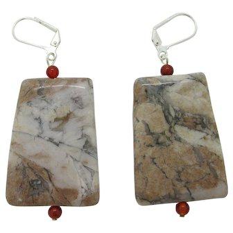 Unique Natural Manchurian Agate Earrings