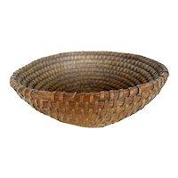 Antique Rye Coil Basket