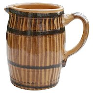 Vintage French Jug in Barrel Form