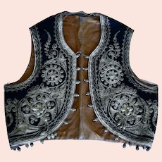 Beautifully Embroidered Child's Vest was made in Turkey c. 1900