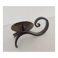 Vintage Wrought Iron Candle Holder, ca. 1930