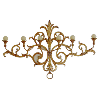 Large Vintage Italian Iron Wall Sconce