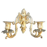 Pair of Vintage Gilt French Rococo Sconces, Lighting