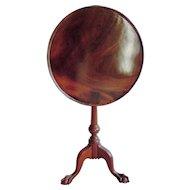 Antique Philadelphia Chippendale Tilt-Top Birdcage Mahogany Tea Table