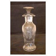 19 Century Glass Oil & Vinegar Cruet with Silver Stopper
