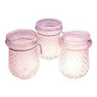 Set of Three Antique Glass Fairy Lights, Candle Holders