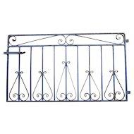 Rare Iron Garden Gate with Original Blue Paint