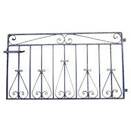 Rare Iron Garden Gate with Original Blue Paint