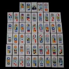 International Tobacco Company Original Cigarette Card Set - Cod of Signals