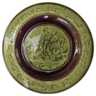 Majolica Plate, French