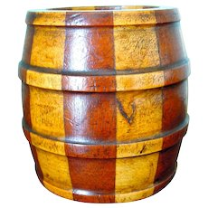 Antique Scottish Spill Vase in Barrel Form, Treen