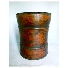 Antique Walnut Wood Mortar, Ca. 1820