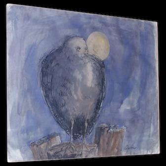 Anton Weiss Original  1960's Painting
