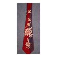 "Vintage Wembley Hunter's Necktie ""Grouse"" Circa/1950's"