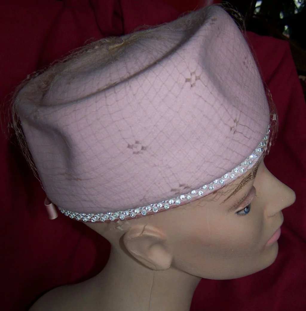 Vintage Pink Pill Box Quot Jackie Quot Style Hat Circa 1960 S