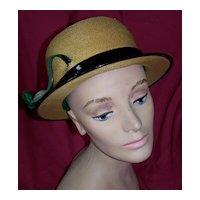 Vintage Herbert Bernard Panama Hat Fit For A Lady Circa/1950's