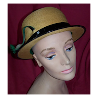 Vintage Herbert Bernard Panama Hat Fit For A Lady Circa/1950's