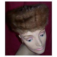 Vintage Vincent de Koven Mink Hat Circa/1950's