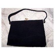 Vintage Pristine Koret Kelly Style Black Suede Purse