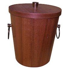 Vintage Mid-Century Wooden Ice Bucket
