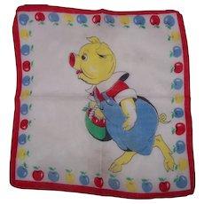 "Vintage Child's ""This Little Piggy"" Handkerchief"