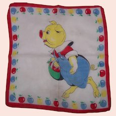 "Vintage Child's ""This Little Piggy"" Handkerchief"