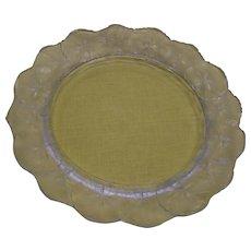 "Set of 10- Lalique -Clear, Fine Crystal Honfleur 10"" Dinner Plates"