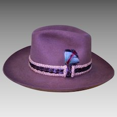 Gents Mallory by Stetson Brown Wool Fedora Hat. 7 1 8   Keepers ... 7d1cf39681e